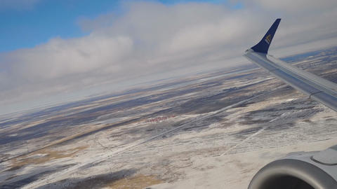 Airplane departure from Astana Footage