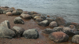 Boulders On The Riverbank stock footage