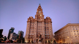 Liver Building At Liverpool,UK stock footage
