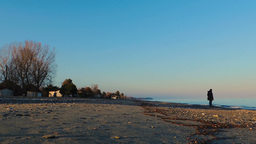 Wide View From The Beach And Front Line Buildings stock footage