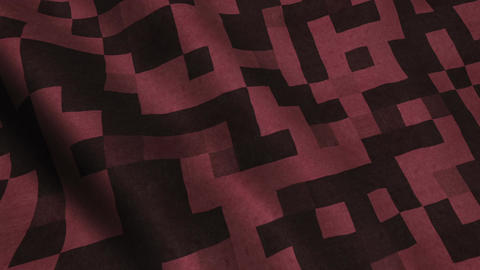 Red Fabric Cloth Material Texture Seamless Looped Background Animation