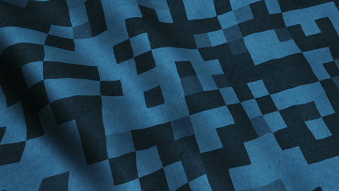 Military Blue Fabric Cloth Material Texture Seamless Looped Background Animation