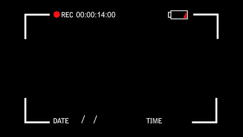 Simple Video Camera Display View on a Black Background Footage
