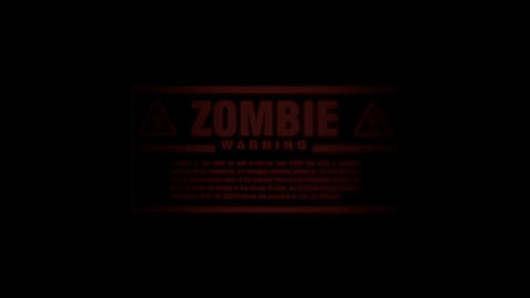 Zombie Alert Going on and Off Footage
