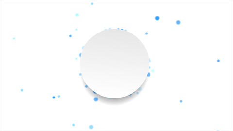 Blue moving circles and blank label video animation Animation