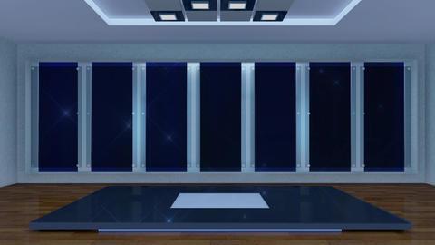 Entertainment TV Studio Set 36-Virtual Green Screen Background Loop stock footage