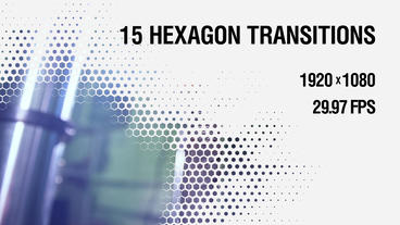 15 Hexagon Transitions vol.2 Plantilla de After Effects