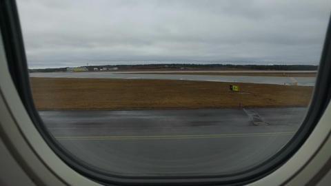 Plane Take Off Window View Footage