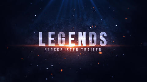 Legends Blockbuster Title Motion Graphics Template