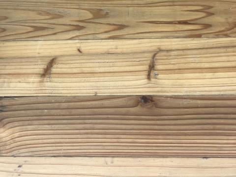 natural brown wooden board with many lines フォト