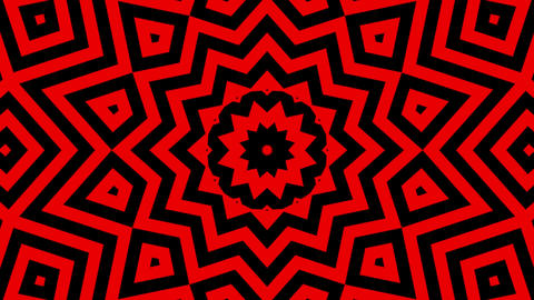 Multicolored motion graphics background with Kaleidoscope seamless loop sequence Animation