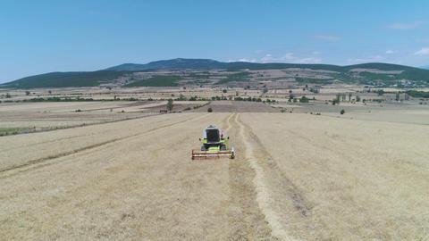 Combine Harvester Working Stock Video Footage