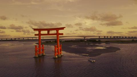 JAPAN Lake Hamana Sunset ビデオ