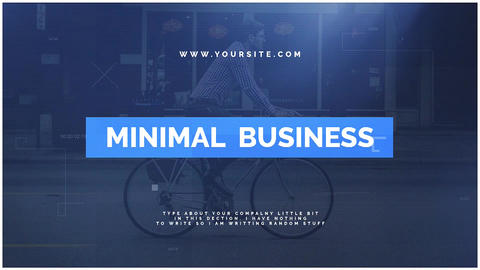 Minimal Business Premiere Pro Template