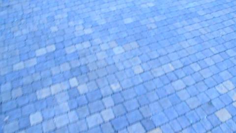 Cobblestone bridge made from figured stones. Stony texture ビデオ