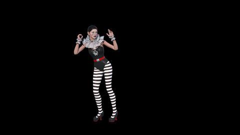 Actress Mime Jump, Dance,animation,transparent Background Animation