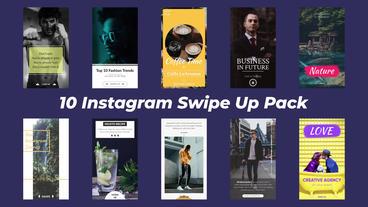 Instagram Swipe Up Pack モーショングラフィックステンプレート