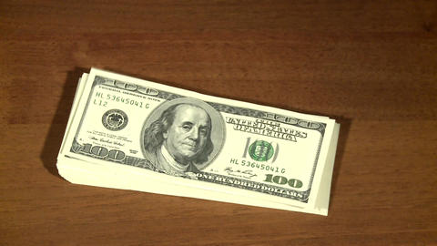 Getting paid, US dollars Footage