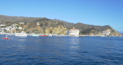 Bay and Town of Avalon on Catalina Island GIF