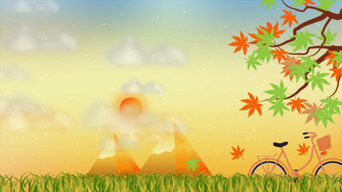 Beautiful autumn season motion background Animation