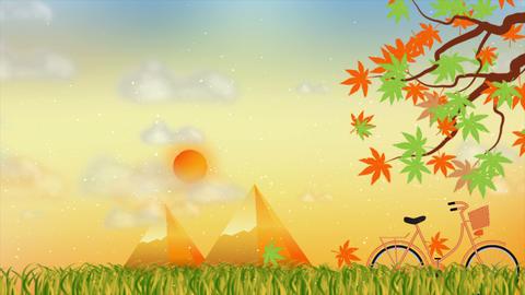 Beautiful autumn season motion background Stock Video Footage