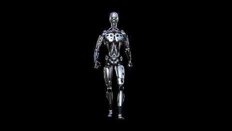 walking robot, loop, animation, transparent background Animation