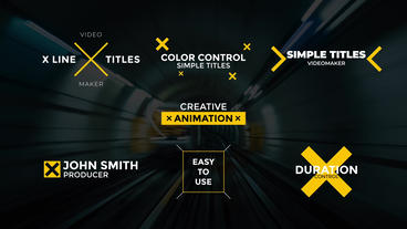 X Line Titles Plantilla de After Effects