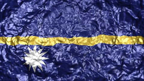 4K-Realistic wavy flag over water background Animación