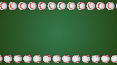 Baseball ball american sport green border frame background pattern GIF