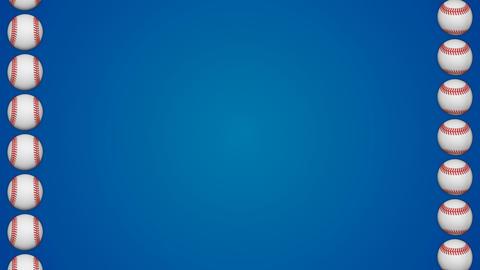 Baseball ball american sport blue border frame background pattern GIF
