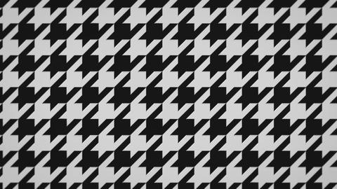 千鳥格子の3Dアニメーション(ループ可能)-白黒 CG動画