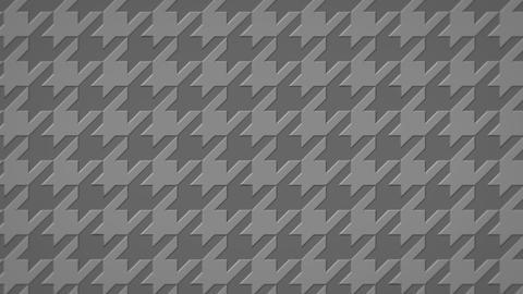 千鳥格子の3Dアニメーション(ループ可能)-グレー CG動画