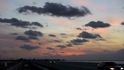 Sunrise in Florida Keys Islamorada road, village of islands, horizon Footage