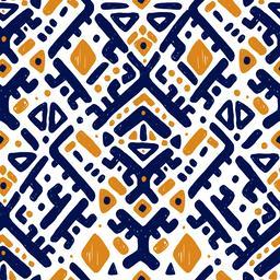 Ikat ornament. Tribal pattern Vector