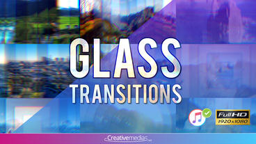 Glass Transitions – After Effects Template After Effectsテンプレート