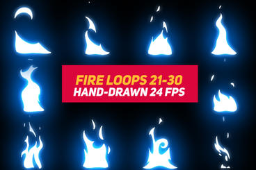 Liquid Elements 3 Fire Loops 21-30 After Effects Template