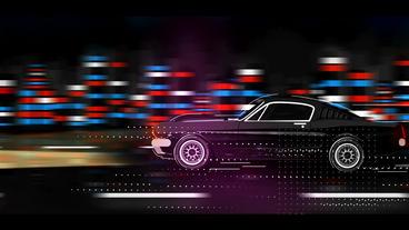 Mustang Cartoon Logo After Effects Template