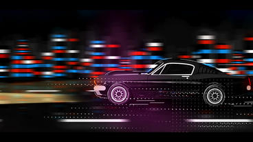 Mustang Cartoon Logo 애프터 이펙트 템플릿