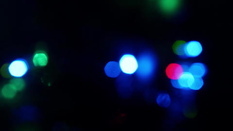 Blinking colored dot circles out of focus - blurry lights Live Action
