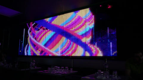 LED screen visualisation in a night club wall - design concept Live Action