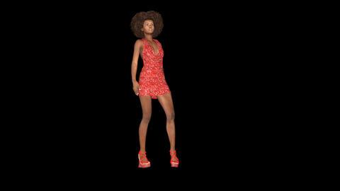 Supermodel Is Walking Feshion Gait, Animation, Alpha Channel Videos animados