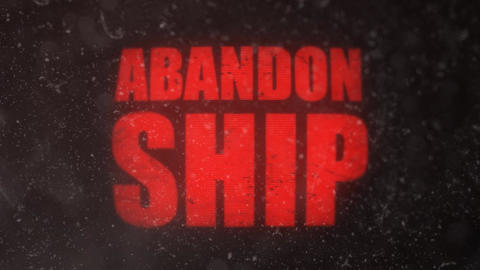 Abandon Ship Signal Alert on an Old Dirty Screen Footage