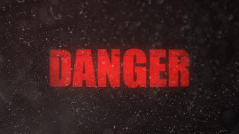Danger Alert Signal on an Old Dirty Screen Footage