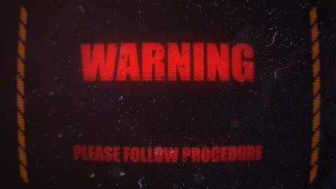 Warning Alert Signal on an Old Dirty Screen Footage
