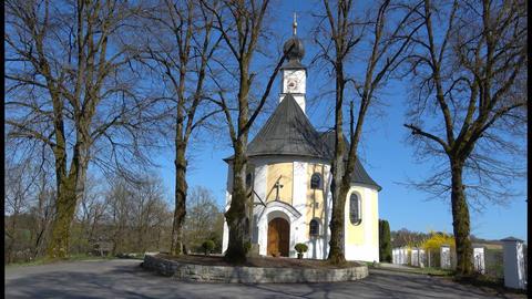 Church in Schöllnstein, Bavaria Germany Footage