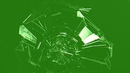 Breaking Glass - Green Screen stock footage