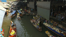 damnoen saduak floating market Footage