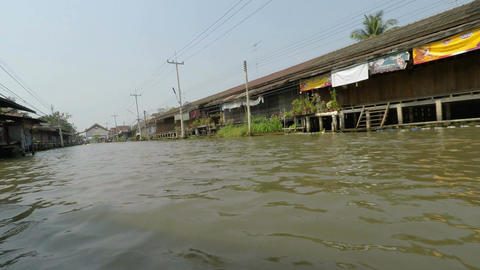 thailand river cruise Footage