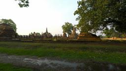 sukhothai buddhistic temple complex Footage