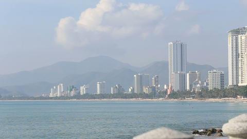 Nha-Trang resort city on seacoast in Vietnam Footage